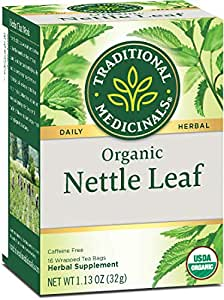 Traditional Medicinals Organic Nettle Herbal Leaf Tea, 16 Tea Bags (Pack of 6)