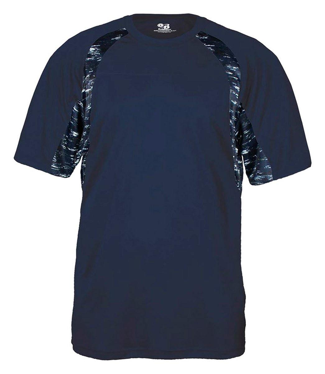 Badger Big Boys Static Hook T-Shirt Navy// Navy Static X-Small