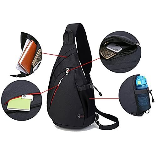 7eff6317b7 Ultrafun Sling Shoulder Backpack Crossbody Rope Bags Daypack Front Chest  Sling Pack with Water Bottle Holder