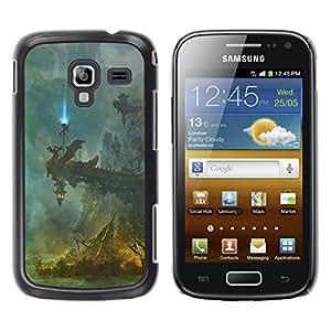 A-type Arte & diseño plástico duro Fundas Cover Cubre Hard Case Cover para Samsung Galaxy Ace 2 (Fantasía Templo)