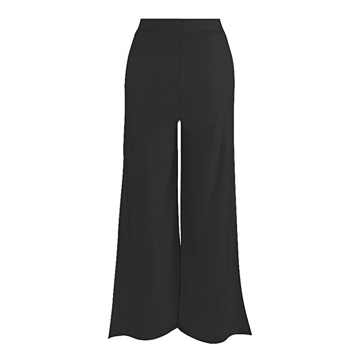c059406323c04 Cresay Women's Slit Wide Leg Flowy Long Palazzo Yoga Pants Clubwear at  Amazon Women's Clothing store: