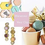 20 Pcs Macaron Hair Clips for Women Acrylic Pearl