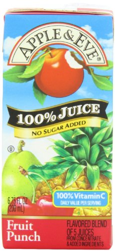 Apple & Eve 100% Juice Boxes 4 Apple, 4 Very Berry & 4 Fruit Punch 6.75 ounces (12 pack) - Great Bundled Package If You Don