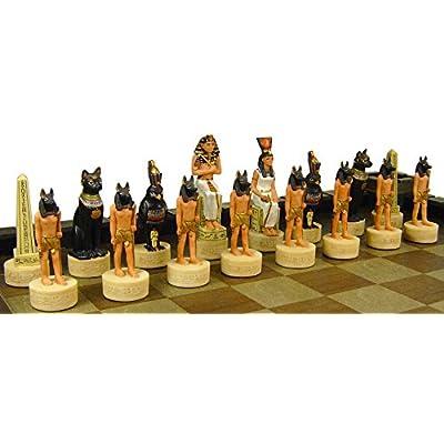HPL Egyptian Anubis Chess Set W/ 17
