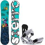 Sierra Stunt Wide 153 Mens Snowboard + Sapient Stash White Bindings - Fits US Mens Boots Sizes: 8,9,10,11,12