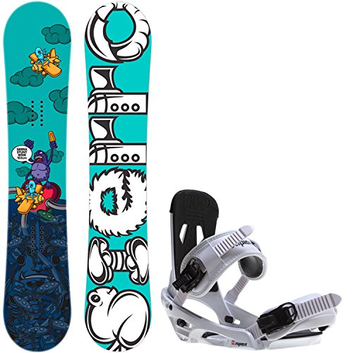 Sierra Stunt Wide 153 Mens Snowboard + Sapient Stash White Bindings Fits US Mens Boots Sizes: 8,9,10,11,12