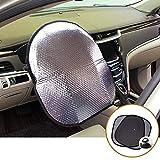 Big Ant Steering Wheel Cover Sun Shade + Bonus Side window Sunshade-Heat Reflector Fit Most Jumbo/Standard Car-Sliver (20.1