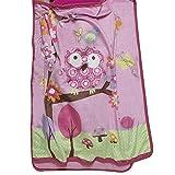 Baby Boom Woodland Owl Nap Mat Pink Birds Toddler Sleeping Roll