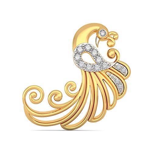 Or jaune 18K 0,22CT TW White-diamond (IJ | SI) Boucles d'oreille à tige