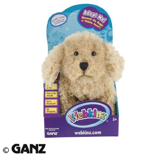 Webkinz Labradoodle in Box with Trading Cards