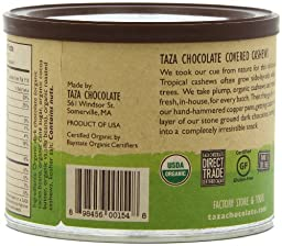 Taza Chocolate Chocolate Covered Cashews, 8 Ounce