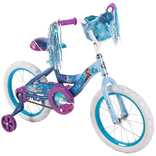 "Huffy 16"" Disney Frozen Girl Bike with Training Wheels Blue/Purple"