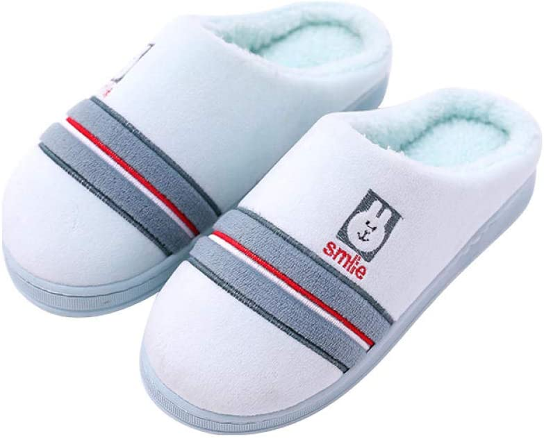 RenshenX Peluche Termicas Zapatos,Zapatillas algodón Piso Madera Conejito Bordado, Zapatos algodón cálidos Antideslizantes, Azul Agua, 38-39,Caliente térmicas Slippers: Amazon.es: Hogar