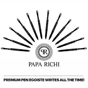 Papa Richi LUXURY Oil Pens UNIWRITE (Pack of 12) with Kernel 1.0mm – Premium Quality & Easy Writing - Original (Blue) Ink or Black Ink - Business Gift Pens - 30 Day Warranty (12 UniWrite 1.0, Blue)