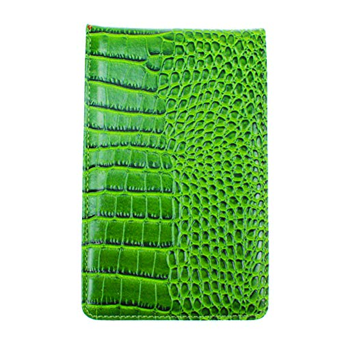 (Crestgolf PU Golf Scorecard Holder Yardage Book Holder PLUS Free Golf Pencil and Stat Tracker Sheet,7.25