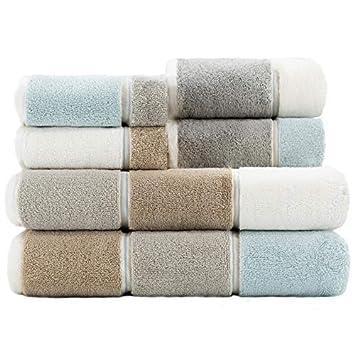 Amazon.com: Caro Home Juego de 6 toallas de baño Rugby Maya ...