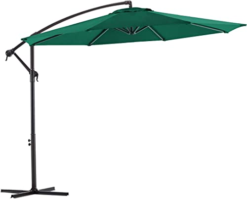 Wikiwiki Offset Umbrella 10ft Cantilever Patio Umbrella Hanging Market Umbrella Outdoor Umbrella