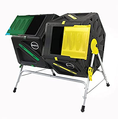 Miracle-Gro Dual Chamber Tumbling Composter, 105 L/27.7 gallon Each Chamber