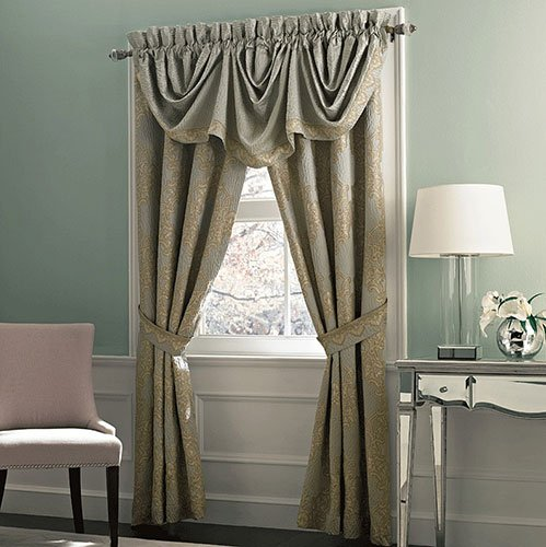 Croscill Opal Imperial Valance, 82 by 28.5-Inch (Croscill Bedding Window)