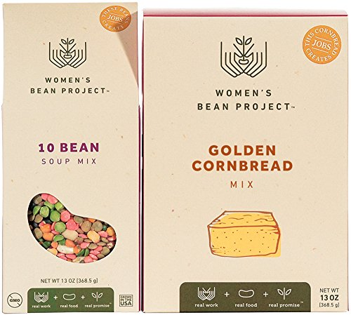 Women's Bean Project Gift Bundle with 10 Bean Soup Mix and Cornbread, 2 Items