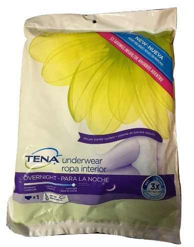 Amazon.com: Tena Overnight Underwear, Single Count, Two Pack (Large): Health & Personal Care