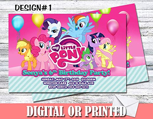 My Little Pony Personalized Birthday Invitations More Designs Inside!