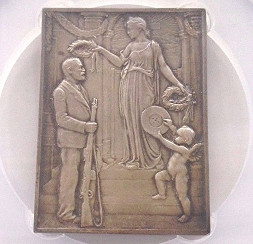 1904 CH Swiss 1904 Silver Rectangular Medal Shooting Fest coin Good