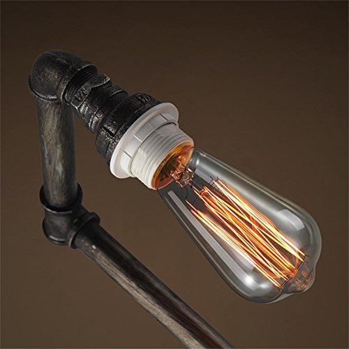 TOYM US-Industrial pipe floor lamp retro decorative wrought iron floor lamp living room by Floor Lamp (Image #1)