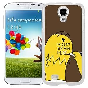 Insert Brain Simpsons (2) Durable High Quality Samsung Galaxy S4 I9500 Case