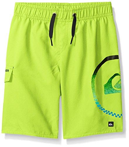 Quiksilver Big Boys' Sideways Swim Trunk, Safety Yellow, M