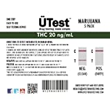 ÜTest: MOST Sensitive Instant THC 20 ng/mL Marijuana Single Panel Home Drug Test (5 pack) *LOW Detection Level* - Customer Service Included