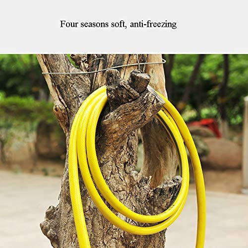 Xiao huang li Garden Hose   Outdoor Hose - PVC Water Pipe   Three-layer Explosion-proof Structure   4 Inches   Soft   Anti-freezing   Yellow  Garden Hose Extension (Size : 25m)