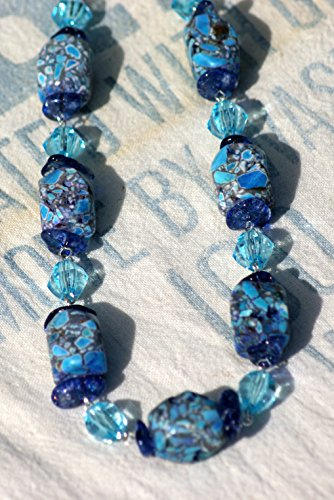 Southwestern Mosaic Howlite Turquoise Necklace (Mosaic Southwestern)