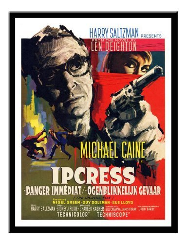 Iposters Ipcress File Michale Caine Belgian Movie Print Black Framed - 41 X 31 Cms (approx 16 X 12 Inches) ()