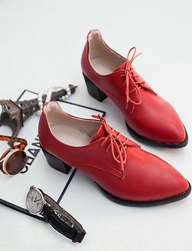 IOLKO njx Hug Damen Schuhe Schuhe Schuhe Chunky Ferse spitz Heels Oxford Office & Karriere Kleid Casual Schwarz Rot Grau B01KHBPQWS Schnürhalbschuhe Zuverlässige Leistung 1b798b