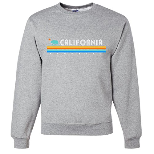 California Republic Vintage Stripe Crewneck Sweatshirt - Ash XX-Large
