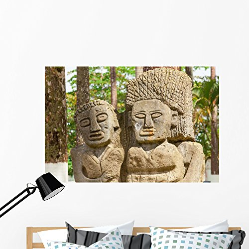Wallmonkeys Park Porto Limon Costa Wall Mural Peel and Stick Graphic (48 in W x 32 in H) (Limon Square)