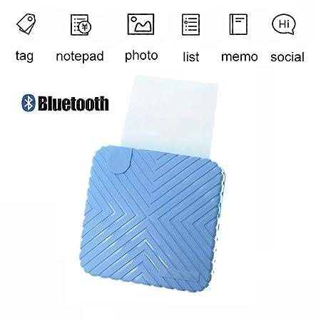 WOWOGA Mini Impresora para teléfono Inteligente, Bluetooth ...