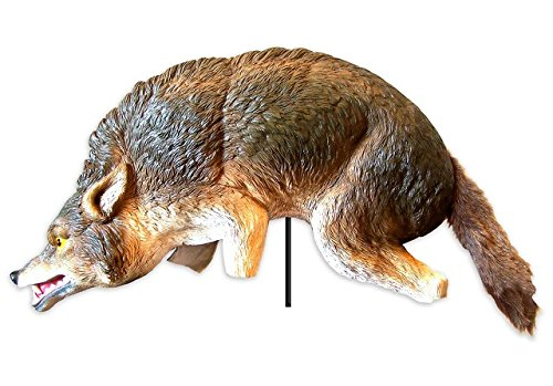 Coyote 3D Replica w/Stake, Geese Repellent, Deters Animals, Used in Parks, Golf Courses, Estates, etc