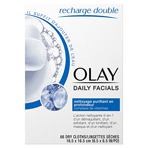 51VtXw13LkL Olay Daily Facials Soap-Free Eye Makeup Remover and 4-In-1 Water Activated Facial Cleanser Cloths, Deeply Clean 66 Count  Packaging may Vary