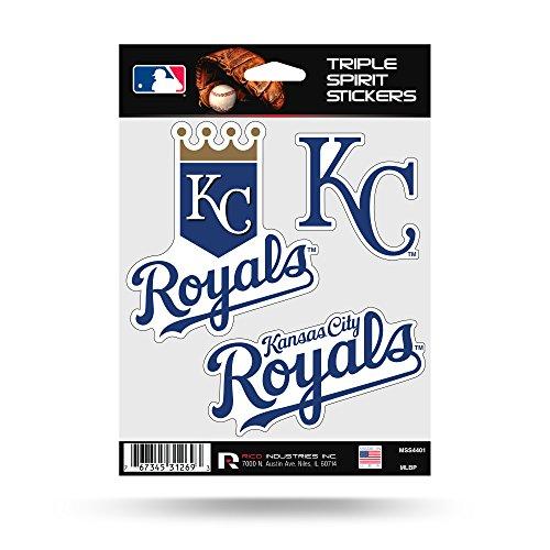 Rico Industries Kansas City Royals Triple Sticker Multi Decal Spirit Sheet Auto Home -