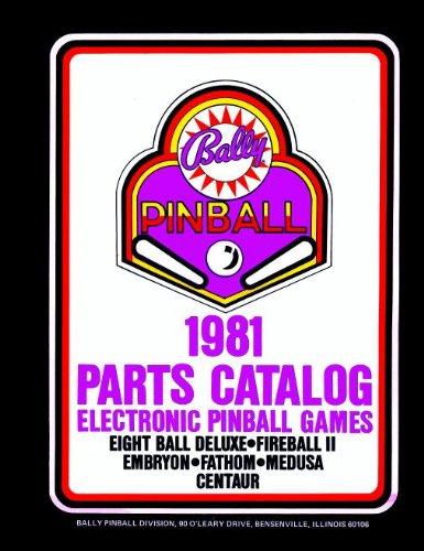 (1981 Bally Pinball Machine Coin-Op Game Parts Manual Catalog)