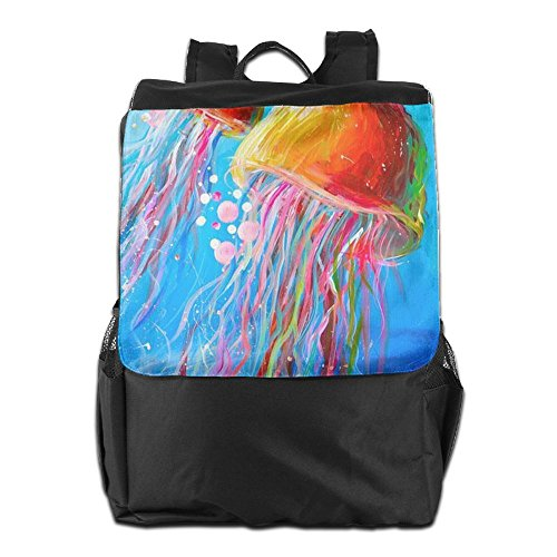 Backpack Shoulder Dayback School Camping for Women Men Personalized HSVCUY Adjustable Jellyfish Storage and Travel Outdoors Strap 8wUxFE
