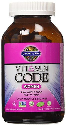 Multi vitamine Garden of Life Code féminin, 240 Capsules