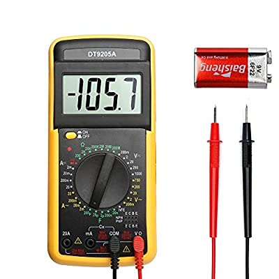 Digital Multimeter Liquid Crystal Display Automatic Ranging Voltage Current Resistance Diode Buzzer and Continuous Test