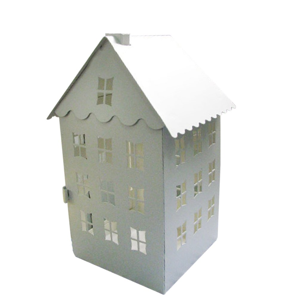 Dovewill Christmas Decorative Tealight Candle Holder House-shaped Lantern Home Ornamental Hanging Craft