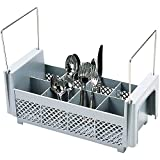 Cambro Half Flatware Basket with Handles Soft Gray 8FB434-151
