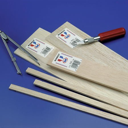 Midwest Products 6606 Micro-Cut Quality Balsa 36-Inch Sheet Bundle, 0.25 x 6 -