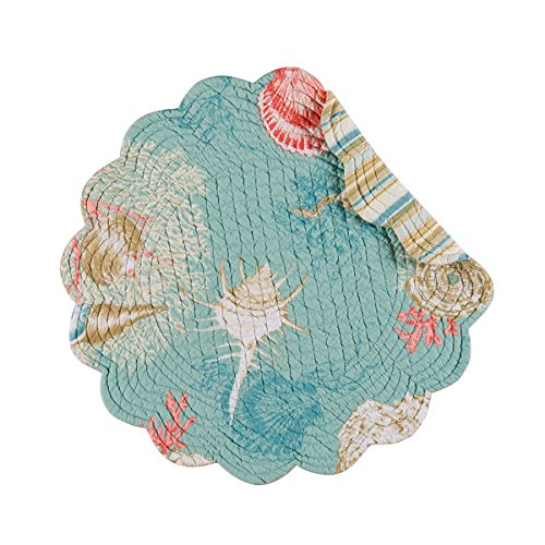 - Santa Catalina Shells Starfish 17 Inch Round Kitchen Dining Placemats Set of 4
