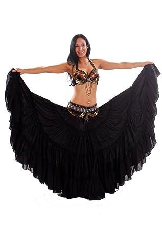 Miss Belly Dance Traje de sujetador y falda tribal danza del vientre conjunto achojai tribal para mujer: Amazon.es: Ropa y accesorios